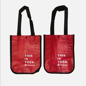 Lululemon Small Red Tote Bags